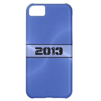 青い光沢があるステンレス鋼の金属2 iPhone5Cケース