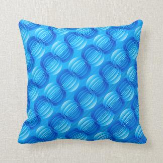 青い円の抽象芸術 クッション