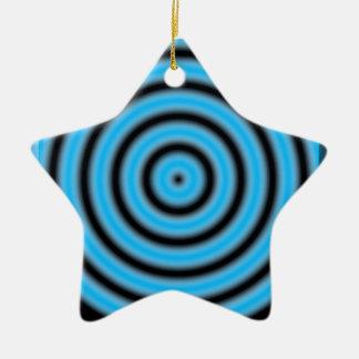 青い円形のイメージ セラミックオーナメント
