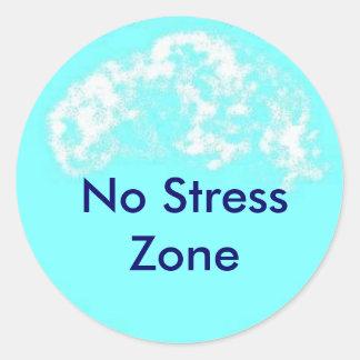 青い円、ストレスの地帯無し ラウンドシール
