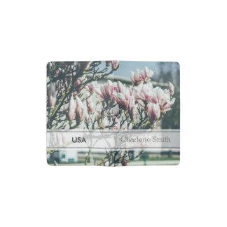 青い写真、春のマグノリアの木 ポケットMoleskineノートブック