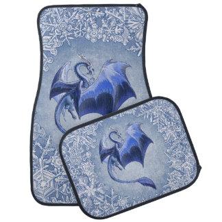 青い冬のドラゴンのファンタジーの自然の芸術 カーマット