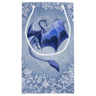青い冬のドラゴンのファンタジーの自然の芸術 スモールペーパーバッグ