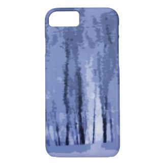 青い冬の森の抽象的なiPhone 7の場合 iPhone 8/7ケース
