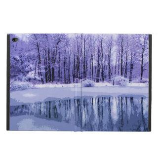青い冬の池のPowisのiPadの空気2箱 Powis iPad Air 2 ケース