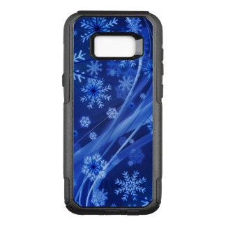 青い冬の雪片のクリスマス オッターボックスコミューターSamsung GALAXY S8+ ケース