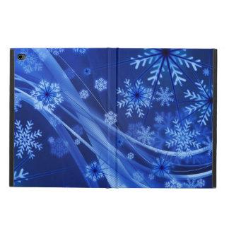 青い冬の雪片のクリスマス POWIS iPad AIR 2 ケース