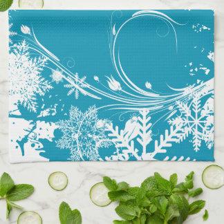 青い冬草原-幸せな休日 キッチンタオル