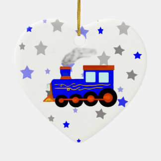 青い列車 セラミックオーナメント