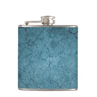 青い割れた土 フラスク