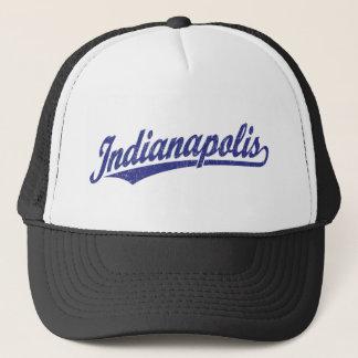 青い動揺してのインディアナポリスの原稿のロゴ キャップ