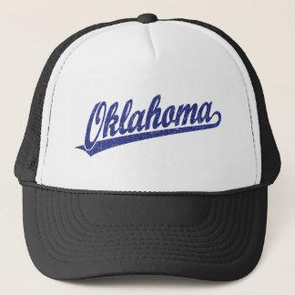 青い動揺してのオクラホマの原稿のロゴ キャップ