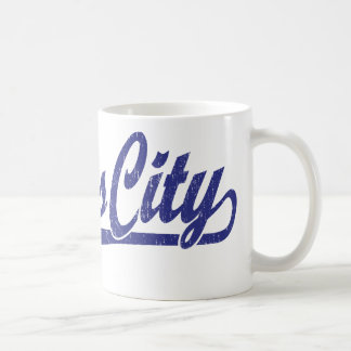 青い動揺してのカンザスシティの原稿のロゴ コーヒーマグカップ