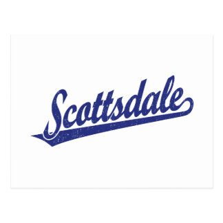 青い動揺してのスコッツデールの原稿のロゴ ポストカード