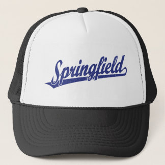 青い動揺してのスプリングフィールドの原稿のロゴ キャップ