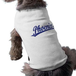 青い動揺してのフェニックスの原稿のロゴ ペット服
