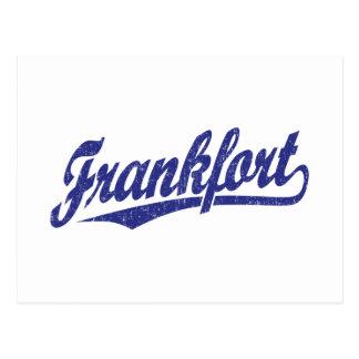 青い動揺してのフランクフォートの原稿のロゴ ポストカード