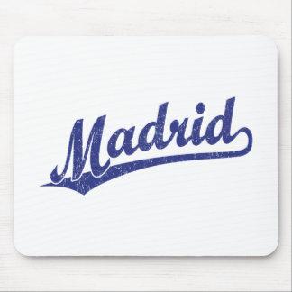 青い動揺してのマドリードの原稿のロゴ マウスパッド