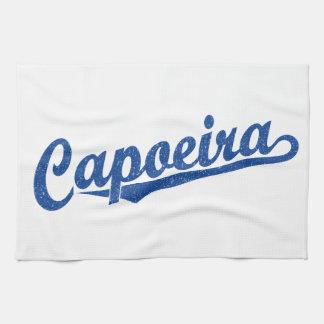 青い動揺してのCapoeira キッチンタオル