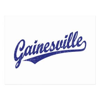 青い動揺してのGainesvilleの原稿のロゴ ポストカード