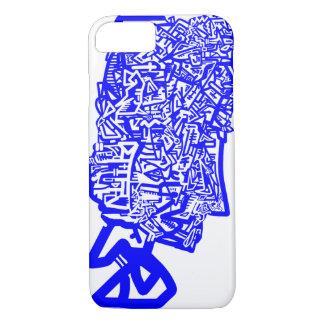 青い動物のマスク iPhone 8/7ケース