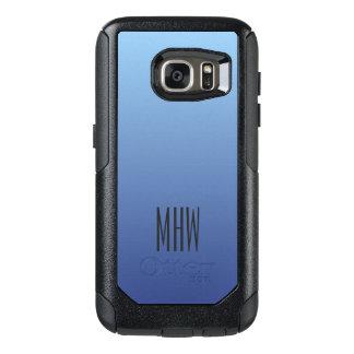 青い勾配のカスタムなモノグラムの電話箱 オッターボックスSamsung GALAXY S7ケース