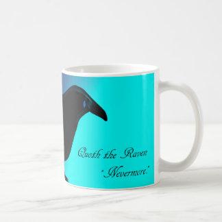青い勾配のマグを持つワタリガラス コーヒーマグカップ
