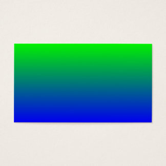 青い勾配へのライムグリーン 名刺