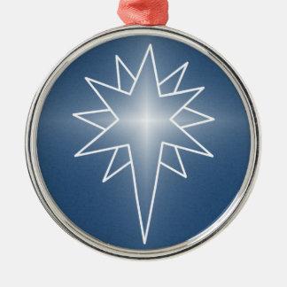 青い北の星の優れた円形のオーナメント メタルオーナメント