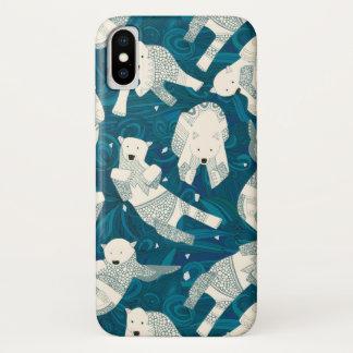 青い北極白くま iPhone X ケース
