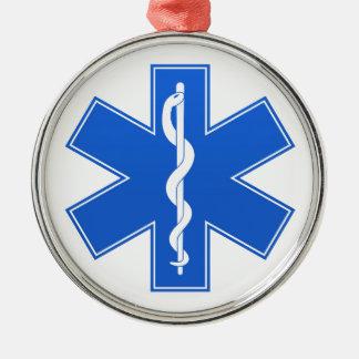 青い医学の印 メタルオーナメント