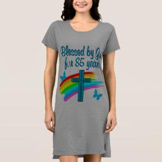 青い十字のデザイン85年の間神によって賛美して下さい ドレス