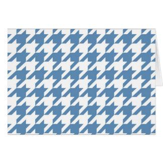 青い千鳥格子の カード