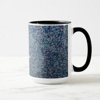 青い半月のマグ マグカップ