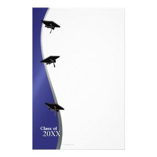 青い卒業のノートのペーパー文房具 便箋