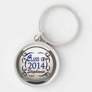 青い卒業Keychainの2014年の一流のクラスを加えて下さい キーホルダー