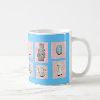 青い古代エジプトのお守りのマグ コーヒーマグカップ