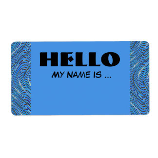 青い名前入りの記章 ラベル