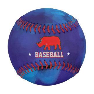 青い名前入りの赤いサイ 野球ボール