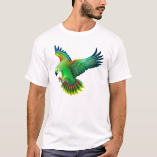青い向かわれたアマゾンオウムのTシャツ Tシャツ