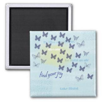 青い喜びの蝶 マグネット