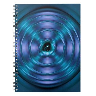 青い回転原子 ノートブック
