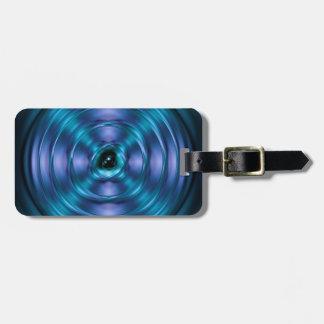 青い回転原子 ラゲッジタグ