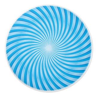 青い回転 セラミックノブ