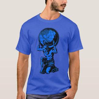 青い地図書の神話の重量挙げのTシャツ Tシャツ