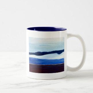青い地平線 ツートーンマグカップ