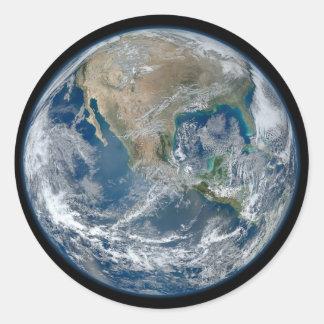 青い地球 ラウンドシール