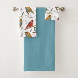 青い基本的なブルーバードの《鳥》アメリカゴガラの鳥 バスタオルセット