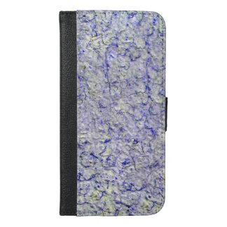 青い壁の背景 iPhone 6/6S PLUS ウォレットケース