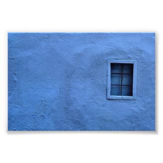 青い壁-写真のプリント フォトプリント
